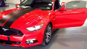 Black Mustang With Stripes Rmfwalkaround 2015 Mustang Red Stripes 511111 Youtube