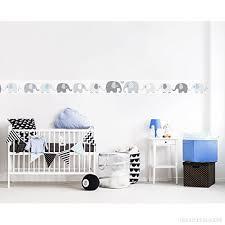 frise adhésive chambre bébé lovely label frise murale adhésive enfant à motifs éléphant gris