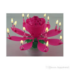 musical birthday candle new musical birthday candle 2 layer 14 candles l lotus