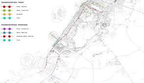 Dubai Metro Map by Dubai Masterplan 2020 World Urban Planning