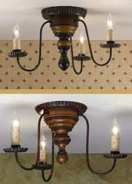 Primitive Light Fixtures Three Arm Primitive Ceiling Light All Things Kitchen Pinterest