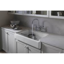 kohler essex kitchen faucet kohler k 6130 4 sn parq vibrant polished nickel two handle bridge