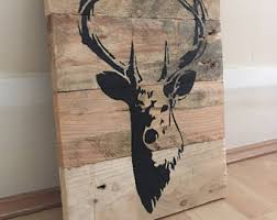 wooden stag wall stag etsy