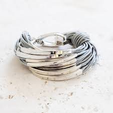 katia silver and thread bracelet by bloom boutique