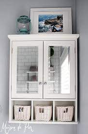 White Wood Free Standing Bathroom Storage Cabinet Unit by Bathroom White Over The Toilet Cabinet With Mirrored Doors