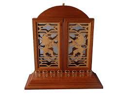 wooden menorah lion menorah designer hanukkah menorah wooden chanukah menorah