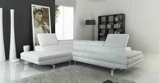 Contemporary White Leather Sofas 959 Modern White Italian Leather Sectional Sofa Modern White