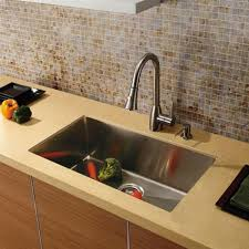 Single Kitchen Sinks by Vigo Vgr3019c 16 Gauge Stainless Steel Undermount Single Bowl
