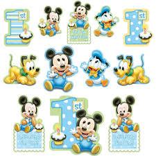 baby mickey 1st birthday 12 disney baby mickey mouse happy 1st birthday cutout decorations
