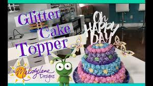 air cake topper cake topper cricut glitter paper