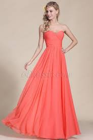 robe corail pour mariage edressit strapless sweetheart coral bridesmaid dress 07154457