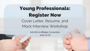 nacda young professionals cover letter resume mock interview