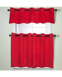 Kitchen Curtains On Sale by Deals On Modern Sublte Textured Solid Red Kitchen Curtains With