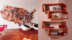 unusual wooden creative shelf ideas wall shelf ideas home