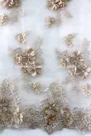 wedding dress material 3d flower lace wedding dress fabric embroidery tulle net lace