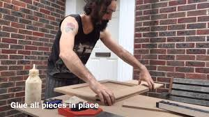making mdf shaker style kitchen cabinet doors youtube