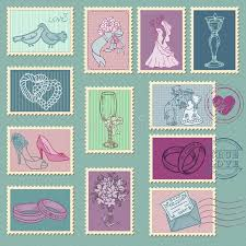 la poste timbre mariage timbres poste de mariage photos stock image 27038513