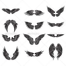 wings design silhouettes and tatting