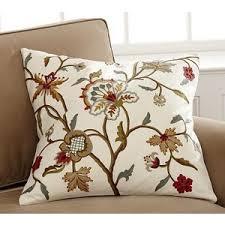 miranda crewel pillow cover pottery barn polyvore