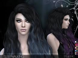 custom hair for sims 4 stealthic sleepwalking female hair