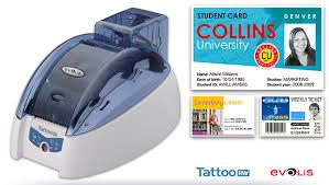 tattoo id card printer evolis tattoo rw card printer plastic resources
