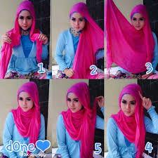 tutorial jilbab remaja yang simple tutorial hijab simple untuk ke kus kantor dan kuliah bundaku net