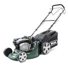 webb supreme r18spes self propelled key start petrol lawnmower