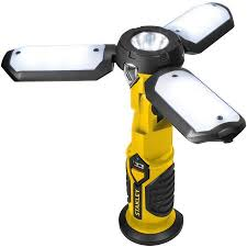 smart electrician rechargeable work light stanley sat3s yellow black satellite rechargeable led work light