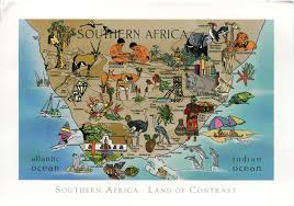 Map Of Southern Michigan by Map Of Southern Africa Remembering Letters And Postcards