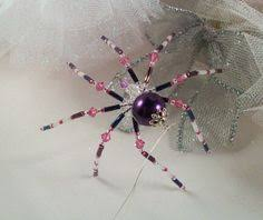 ornament teal beaded spider by thespiderlady