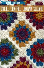 free pattern granny square afghan circle centred crochet granny square a pattern granny