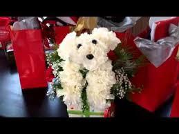 Dog Flower Arrangement Puppy Flower Arrangement Youtube