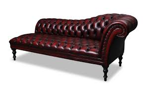 fascinating modern red chaise lounge design with faux leather