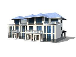 Row House Model - row houses building 3d model 3ds max files free download