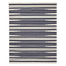 Outdoor Rug 6 X 9 Aura Stripe Indoor Outdoor Rug Navy Williams Sonoma