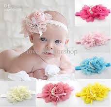 flower bands baby chiffon flowers bands hair accessories hair flowers
