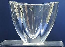 Orrefors Vase Signed Orrefors Glass Oval Shape Vase Crystal U2013 O U0027rourke Crystal