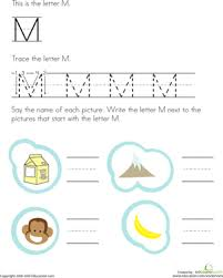 trace and write the letter m worksheet education com