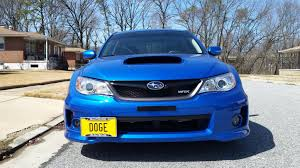 subaru meme front license plate relocation kit installed subaru