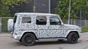 mercedes g wagon 2019 mercedes g class spied up close in standard and amg trims