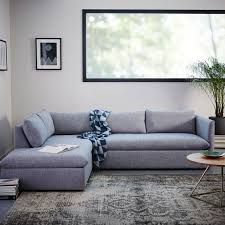 West Elm Sectional Sofa Shelter 2 Terminal Chaise Sectional West Elm