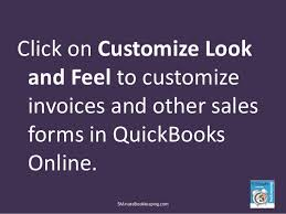 how to customize invoice in quickbooks online