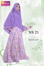 Baju Muslim Dewasa Ukuran Kecil jual termurah nibras ns 21 pink gamis dewasa ukuran kecil di lapak