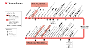 B15 Bus Route Map by Nyc Metro Route 3 7th Avenue Express Subway Metro