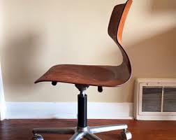 mid century modern desk chair office chair etsy