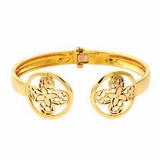 gold monogram louis vuitton monogram gold bangle bracelet opulentjewelers