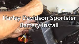 harley davidson battery install on a sportster 1200 youtube