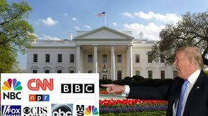 president trump kicks the main stream media out of the white house