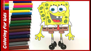 arts and crafts for kids how to color spongebob coloring pages