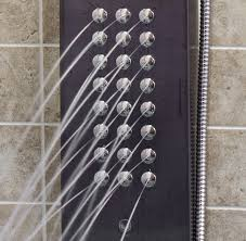 vg08009gm gunmetal shower panel with system